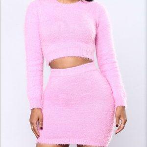 Pink Fuzzy 2 Piece Set